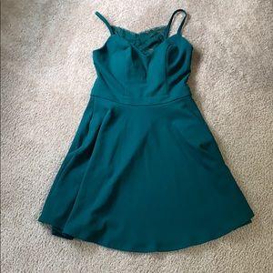 Green speechless dress